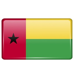 Flags GuineaBissau in the form of a magnet on vector image