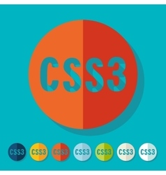Flat design CSS3 vector image