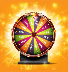 Fortune wheel banner luck sign lottery vector