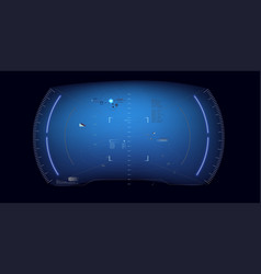 Futuristic hud interface screen design vector