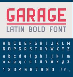 Garage bold font vector