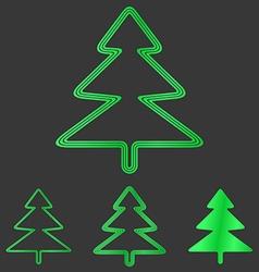 Green pine tree logo design set vector