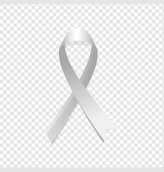 Grey ribbon awareness vector