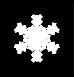 grunge brushstroke snowflake vector image