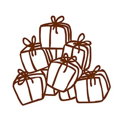 Hand Drawn Present Stack vector