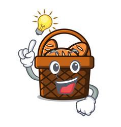Have an idea bread basket mascot cartoon vector