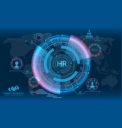 Hud elements search human resources hr vector