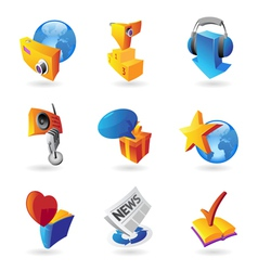 Icons for leisure vector image
