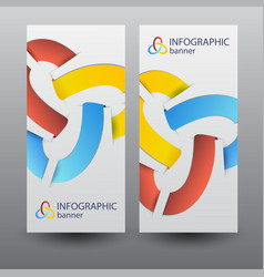 Infographic business vertical banners vector