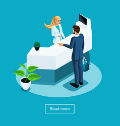 isometrics healthcare and innovative technologies vector image