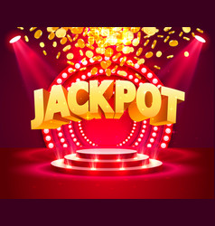 Jackpot casino podium vector
