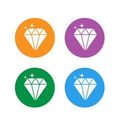 jewelry symbol set diamond icon vector image