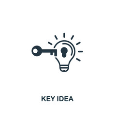 key idea icon premium style design from vector image