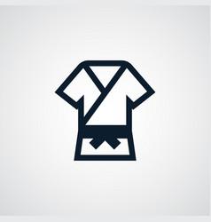 kimono icon simple karate element uniform symbol vector image