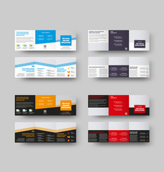 Layout a square booklet with color accents vector