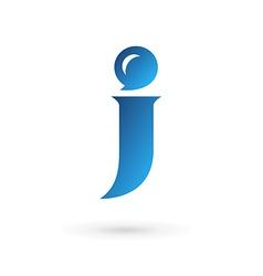 Letter J speech bubble logo icon design template vector image