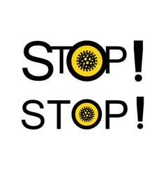lockdown pandemic stop novel coronavirus outbreak vector image