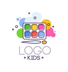 logo kids creative design template hand drawn vector image