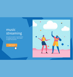 man and woman dance to music vector image