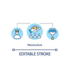 monoculture concept icon vector image