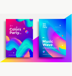 music wave party poster design vector image