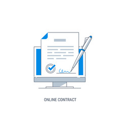 online contract vector image