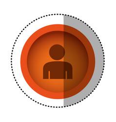 orange round symbol face person icon vector image