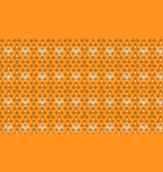 Pattern outlined spinners on bright orange vector