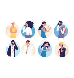 people talking phone person family calling by vector image