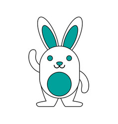 pet rabbit smiling vector image