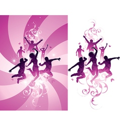 pink people background vector image