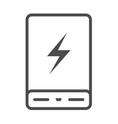 power bank battery phone charger minimalistic flat vector image
