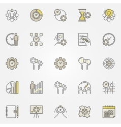 Productivity colorful icons vector