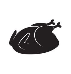 Roasted turkey or chicken icon vector