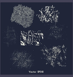 Set of different grunge textures vector