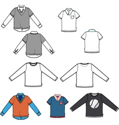 Set of tees vector