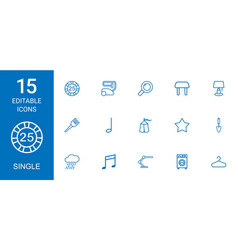 single icons vector image