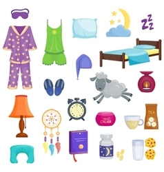 Sleep dream icons set vector image