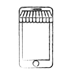Smartphone and ecommerce design vector