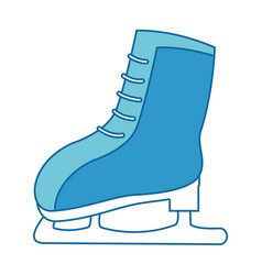 snow skates isolated icon vector image