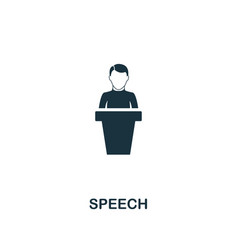 speech icon premium style design from teamwork vector image
