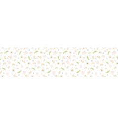 Stemmed daisy wildflower motif banner background vector
