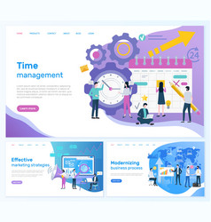 Time management and effective marketing strategies vector