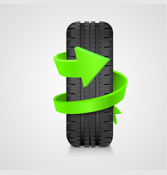 tire with arrow health care concept vector image