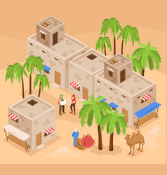 tourism egypt isometric composition vector image