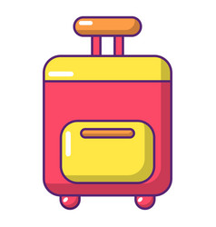 Travel bag icon cartoon style vector