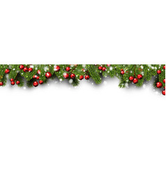 White christmas and new year banner with fir vector