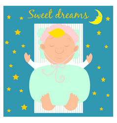 with cute sleeping baby vector image