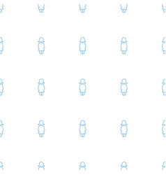 woman icon pattern seamless white background vector image