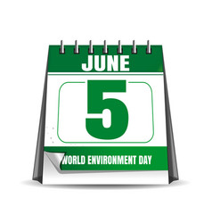 World environment day calendar 5 june vector